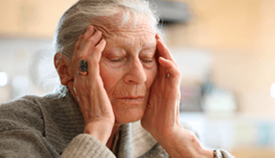 Area where headache associated to temporal arteritis is felt