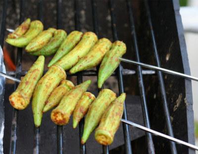 Grilled Okra image